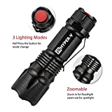 J5 Hyper V Tactical Flashlight - Amazingly Bright 400 Lumen LED 3 Mode Tactical Flashlight, Black