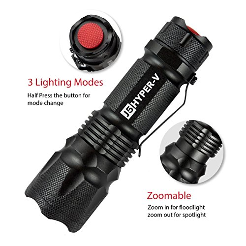 J5 Hyper V Tactical Flashlight – Amazingly Bright 400...