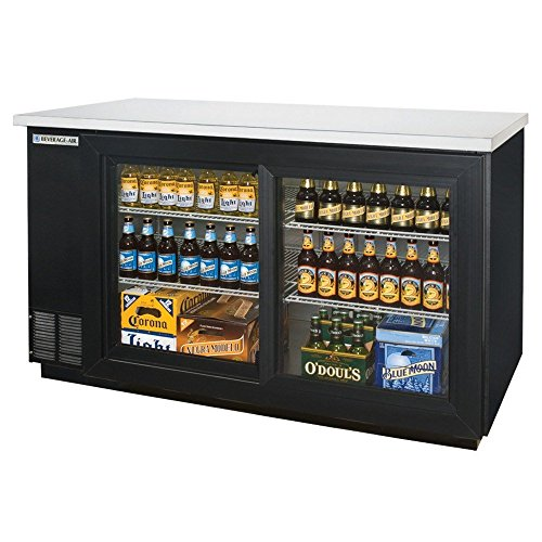 Beverage Air BB58GSF-1-B Two-Section Refrigerated Food Rated Back Bar Storage Cabinet 58