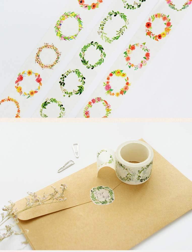 9 Rolls Flower Paper Tapes DIY Decorative Planner for Student//Girls