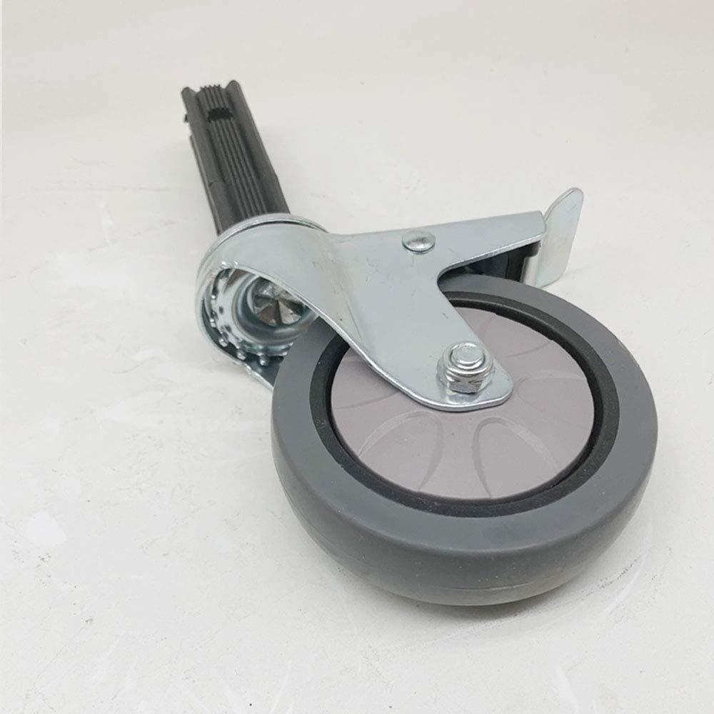 DGXQ 100mm Lenkrollen mit Bremse//lochh/öhe 85mm //geeignet f/ür Vierkantrohr mit 25mm Durchmesser mit Kolben//Leise//Bodenschutzfliese 45 4 St/ück