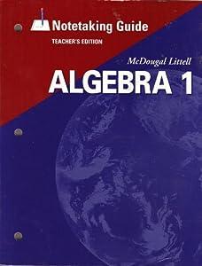 mcdougal littell algebra 1 notetaking book by mcdougal littel rh thriftbooks com