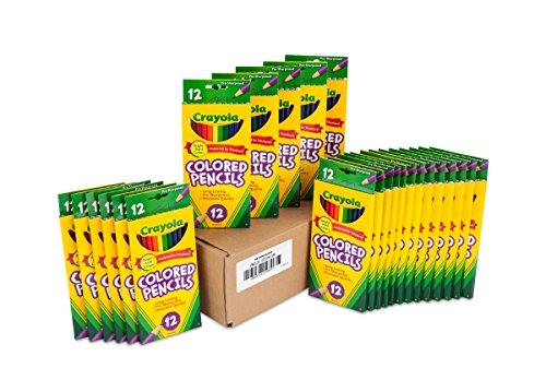 Crayola Colored Pencils 12 Each (Pack of 24), Pre-sharpened, Assorted Colors - 68-0004]()