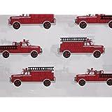 Authentic Kids Vintage Fire Truck Sheet Set, Full Size