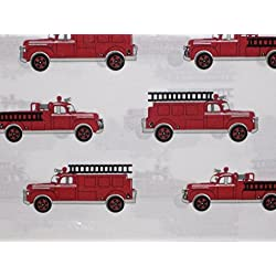 Authentic Kids Vintage Fire Truck Sheet Set, Twin Size