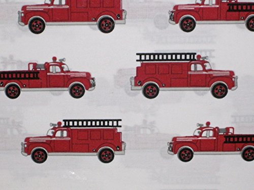 ge Fire Truck Sheet Set, Full Size (Cotton Fire Engine)