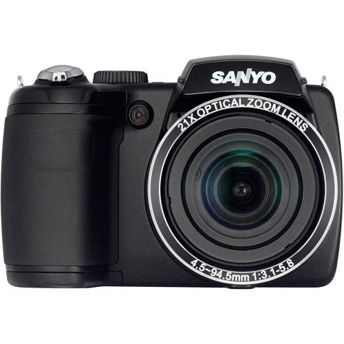 Sanyo Ccd Camera (Sanyo VPC-E2100BK 14MP Digital Camera, 14MP, 21x zoom (25mm wide), 3 (460k) LCD, CCD Sensor Shift image stabilization, 720p HD v)
