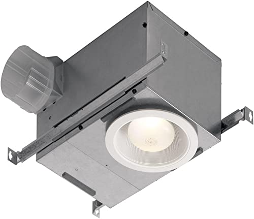Broan-Nutone 744LEDNT Recessed Fan and Light Combo for Bathroom and Home, ENERGY STAR Certified, 14-Watts, 1.5 Sones, 70 CFM,White