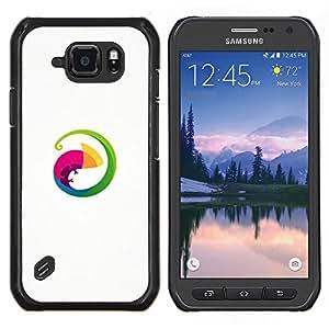 EJOOY---Cubierta de la caja de protección para la piel dura ** Samsung Galaxy S6Active Active G890A ** --Círculo Lizard