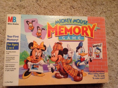 Milton Bradley Mickey Mouse Memory Game