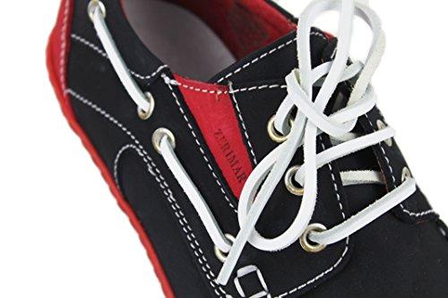 rouge Doublure intérieure Semelle Cuir 100 en Marine Chaussures Design Mode Nautiques avec Marquage en Cuir Bleu de Caoutchouc Premium Flexible Zerimar TRwxpf