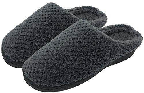 Finoceans Women's Slippers Shoes Winter Indoor Footwear Dark Grey