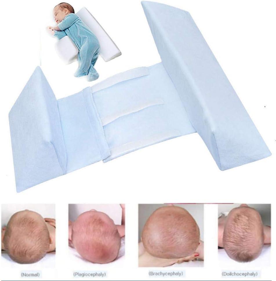 MLHK Baby Schlaf Styling Kissen Babykissen Gegen Plattkopf Anti Rollover Seitenschlafkissen Verstellbare Seitenst/ütze Keilkissen,Blue