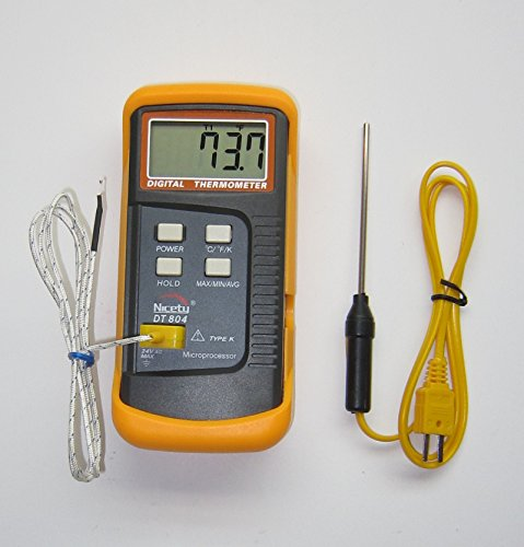 (K-type Thermocouple Thermometer Nicety DT804 with stainless steel insertion thermocouple)
