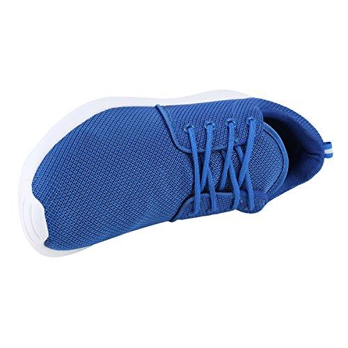 Modische Herren Sportschuhe Freizeit Sneaker Snake Laufschuhe Runners Trainers Sneakers Schuhe Flandell Blau Weiss