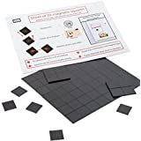 Magnefic! Magnetic Squares, 1 tape sheet of 70 magnetic squares (each 20x20x2mm), magnet on one side, self adhesive on the other side. Perfect for fridge organisation, DIY art project, vision board