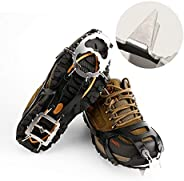 Cosyzone Traction Cleats Ice Spikes Grips for Shoe/Boots Safe for Walking, Jogging, Climbing and Hiking