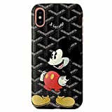 Fashion Luxury Cell Phone Case for iPhone X/XS Mickey (Black)