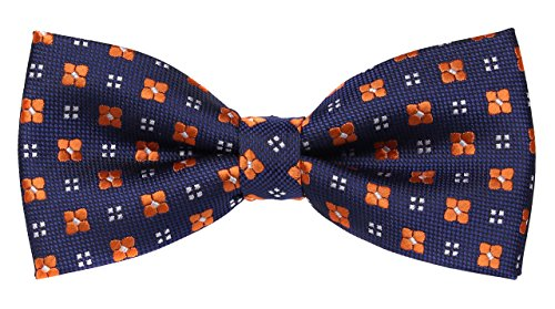 Orange Silk Boys Ties - 1