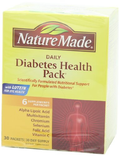 Nature Made Diabetes Health Pack 30 Count Easy Health Care