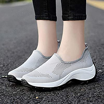 HENWERD Mesh Jazz Shoes Womens Modern Split-Sole Dance Sneakers for Ballroom Breathable: Clothing