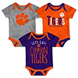 Gen 2 NCAA Clemson Tigers Newborn & Infant Little Tailgater Bodysuit, 18 Months, Orange