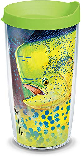 Tervis 1317593 Guy Harvey - Dorado Camo Insulated Tumbler with Wrap and Lid, 16 oz - Tritan, Clear