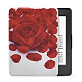 Dopup Kindle Paperwhite Case Lightest and Thinnest Leather Smart Protective Cover with Auto Wake/Sleep Function(Rose Petal)