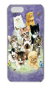 10 Kittens PC Case Cover for iPhone 6 plus and iphone 6 plus white