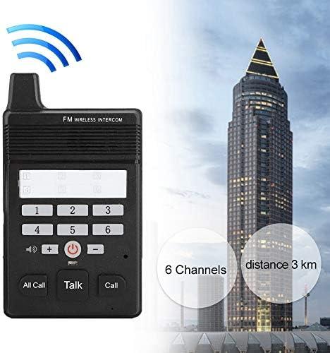 Zwarte bijgevoegde USB-kabel Bidirectionele walkietalkie, bidirectionele intercom, 462.0Mhz-frequentie 3km communicatieafstand voor draadloze conferentie