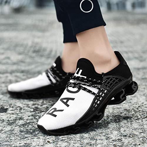 Sneaker otoño Casual Verano QinMM Hombre Deportes Blanco Gym Respirable Zapatos Zapatillas Cordones para Running Primavera x7pO0wnaq