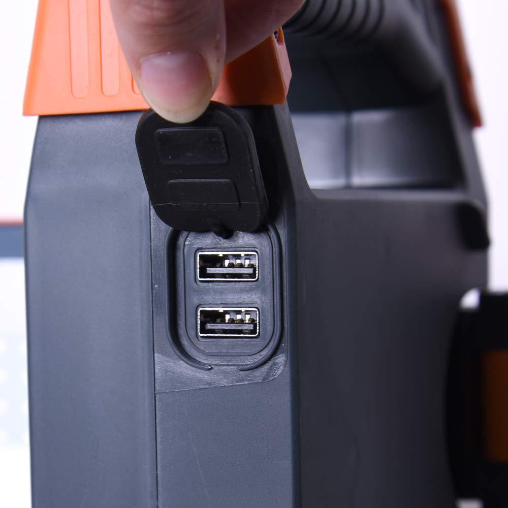 batteria senza fili 2 x 30 W Faro da cantiere chip LED con treppiede 2500 lumen