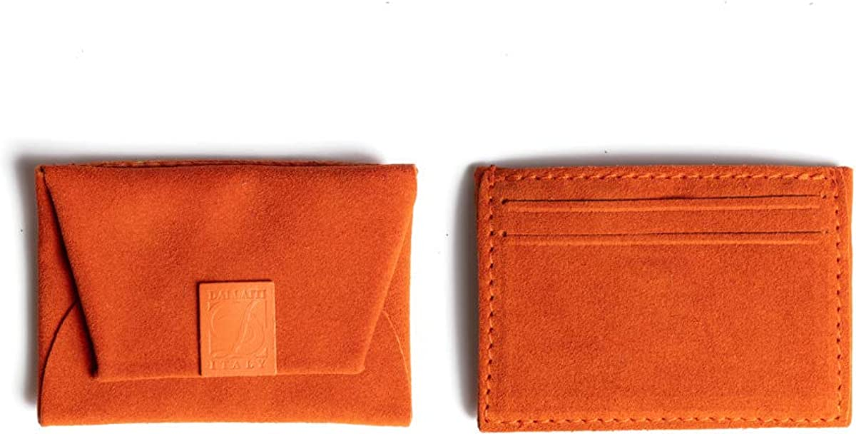 7.5x1x10 cm Porte cr/édit Femme W x H x L Dallaiti Design Porta Carte Di Credito in Pelle Pigmentata
