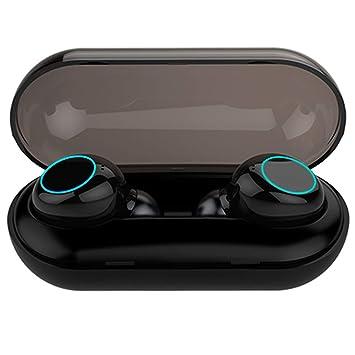 Bluetooth Headset 5.0, Auriculares inalámbricos a Prueba de Agua IPX8, Auriculares con cancelación de