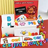Bellababy Words Flash Cards Spelling and Learning Game Toys, Alphabets Writting Matching Letters Puzzle Game Toy for Kids Toddlers Aged 3+ Preschool Education