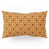 Society6 Circles And Dots, Mustard And Red Pillow Sham King (20'' x 36'') Set of 2
