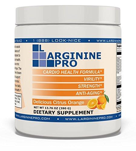 L-arginine Pro, 1 Now L-arginine Supplement - 5,500mg of L-arginine Plus 1,100mg L-Citrulline + Vitamins & Minerals for Cardio Health, Blood Pressure, Cholesterol, Energy (Citrus Orange, 1 Jar)