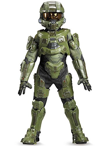 [Disguise Master Chief Ultra Prestige Halo Microsoft Costume, Medium/7-8] (8 People Costumes)