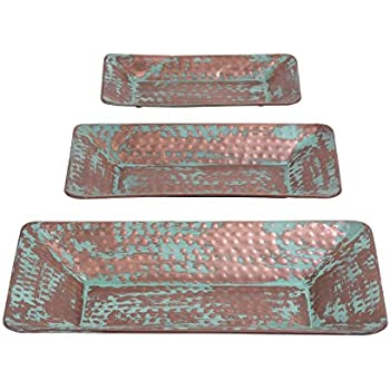 Deco 79 Metal Tray, 21 by 18 by 14-Inch