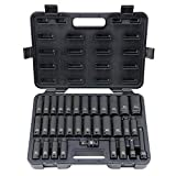 Blackhawk By Proto UW-533CDS Drive Deep Impact Socket Set, 1/2-Inch, 33-Piece