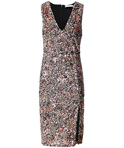 Alice and Olivia Women's Natalie Sequin Midi Dress Gold US 6 (Alice Dress Sequin Olivia)