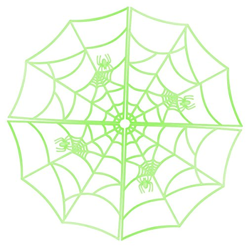 Glowing Spider Web Halloween Decorations by Hello Halloween | Luminous Spider Web for Spooky Halloween Fun | Glow in the Dark Haunted House Supplies | Halloween Props Plastic Spider Web, (Fun And Easy Halloween Decorations)