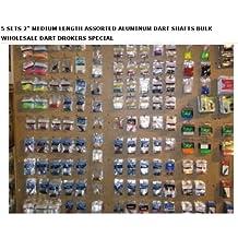 "5 Sets of 3 - Assorted 2ba Aluminum Short 1 1/2\"" Dart Shafts - BULK WHOLESALE DART DROKERS SPECIAL"