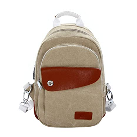 664b9f559a84 Fashion Unisex Canvas Backpack Multifunction Leisure College Bookbag Laptop  Crossbody Bag Students Women Men Travel Messenger