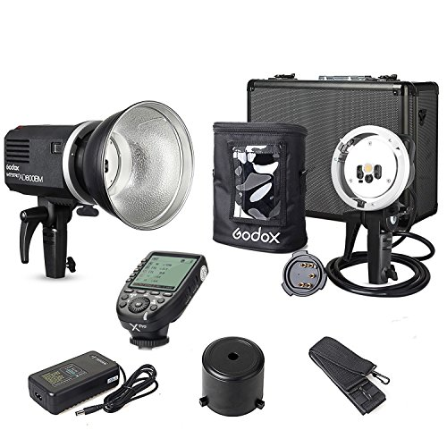 Godox AD600BM Canon Kit {Including X1T-C Transmitter, AD-H600B Mount, AD-R6 Reflector, PB-600 Bag} 1/8000s Non-TTL Manual 600W Outdoor Flash Light Bowens Mount for Canon Bowens Flashtube