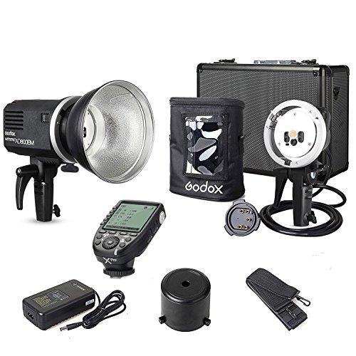 Godox AD600BM Nikon Kit {Including XPro-N Transmitter, AD-H600B Mount, AD-R6 Reflector, PB-600 Bag} 1/8000s Non-TTL Manual 600W Outdoor Flash Light Bowens Mount for Nikon Bowens Flashtube
