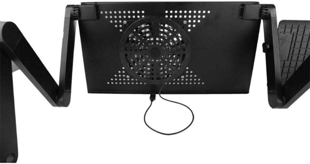 Portable Laptop Stand Desk Adjustable Aluminum Table Holder with Mouse Pad /& Vented CPU Fans