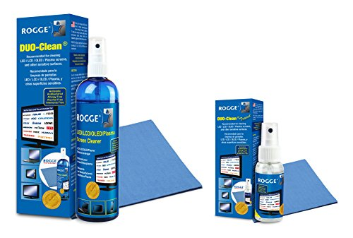 Lcd Screen Gel Cleaner (Screen Cleaner Kit - Natural, Streak-Free, Antibacterial - For Phones, LED/LCD TVs, Computers, Laptops, Glasses, ... - Spray 8.4oz & 1.7oz + 3x Microfiber Cloths (washable) - Made in Germany [Bundle])