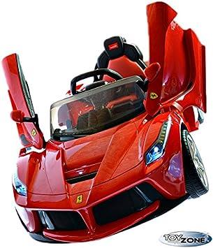 Children S Ride On 12 V Electric Car La Ferrari Child Car Electric Car 2 4 Ghz Rc Steering Amazon De Spielzeug