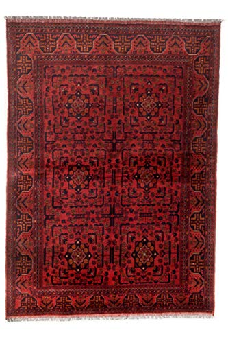 """eCarpet Gallery Area Rug for Living Room, Bedroom   Hand-Knotted   100% Wool   Finest Khal Mohammadi Bordered Red Rug 4'9"""" x 6'8""""   305675 from eCarpet Gallery"""